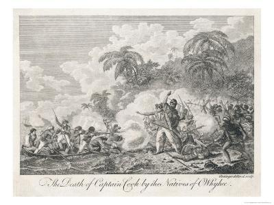 Captain Cook is Killed in Hawaii (Sandwich Islands) During a Quarrel Over a Stolen Boat