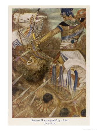 Rameses II (The Great) Egyptian Ruler Goes into Battle with His Tame Lion
