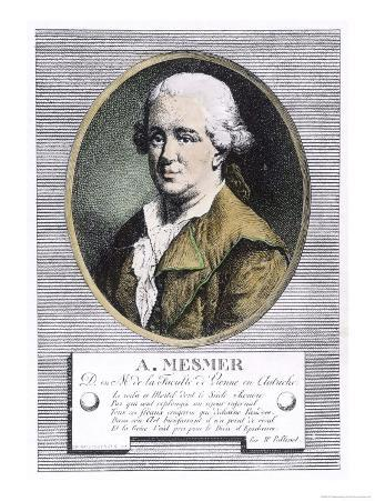 "Portrait of Franz Anton Mesmer Who Discovered ""Animal Magnetism"" or Mesmerism"