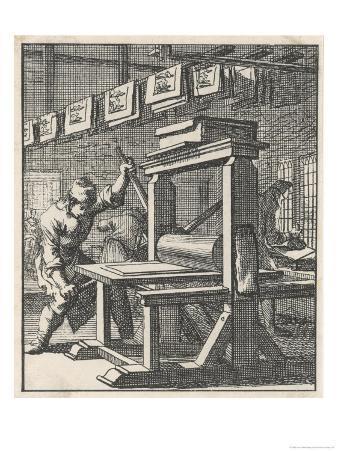 Working on a Dutch Flat Bed Press