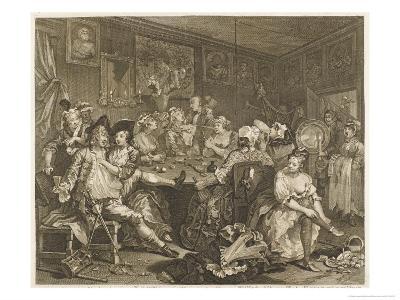 Tavern Scene Illustration to the Rakes Progress
