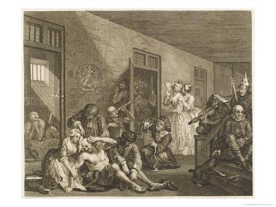 Scene in Bedlam Asylum