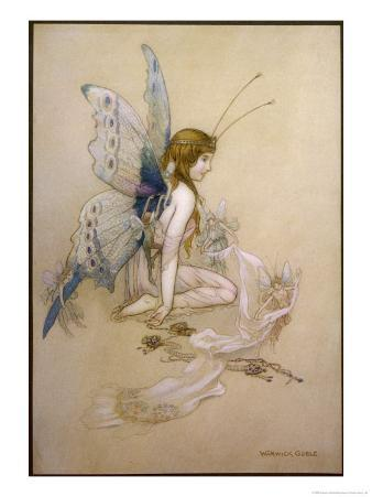 The Fairies Came Flying in at the Window and Brought Her Such a Pretty Pair of Wings
