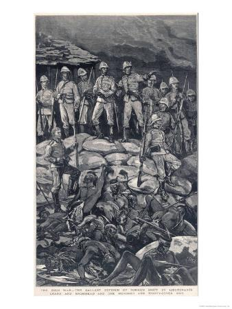 Rorke's Drift Chard and Bromhead with Their Men the Morning after the Zulu Attack