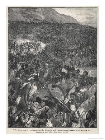 Rorke's Drift 4000 Zulus Attack the Outpost Defended by Chard and Bromhead with Only 139 Men