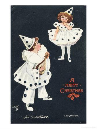 An Overture, Boy and Girl in Pierrot Costume Take a Fancy to One Another
