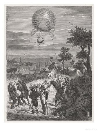 Balloon Used by the French for Reconnaisance During the Revolutionary War Notably
