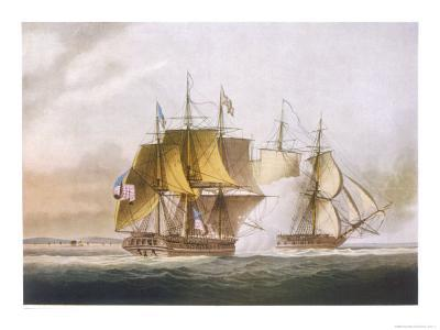 Naval Combat off Boston Between Hms Shannon and the American Frigate Chesapeake