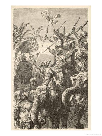 Porus Musters His War Elephants in Preparation for War with Alexander the Great of Macedon