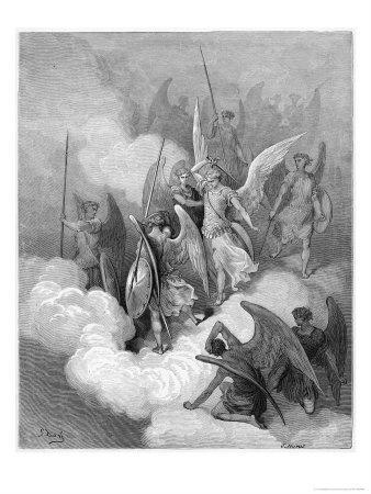 Abdiel Leads Good Angels into the Fight with Satan