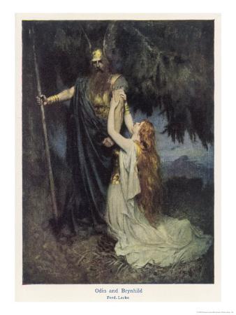 Odin and Brunnhilde