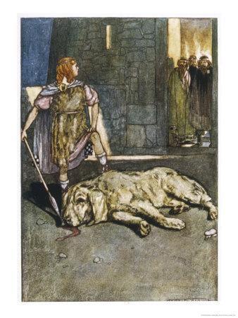 Cuchulain (Cu Chulainn) Slays the Hound of Culain