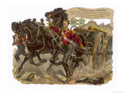 Captain Bell of the Royal Welsh Fusiliers Captures a Russian Gun at the Battle of Alma