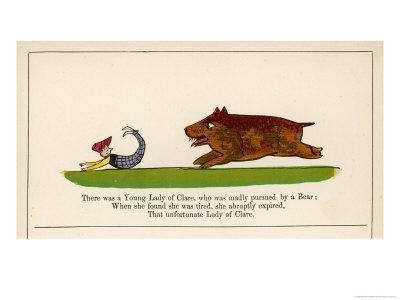 There was a Young Lady of Clare Who was Madly Pursued by a Bear