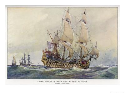 First-Class French Warship Commissioned for Louis XIV by His Minister Colbert