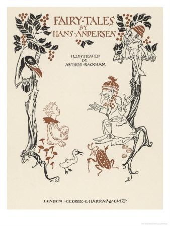 Rackham's Title Page to an Illustrated Edition of Andersen's Fairy Tales