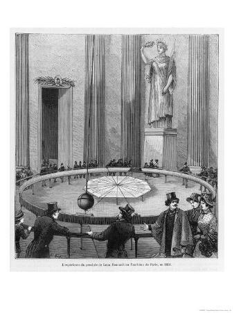 Leon Foucault Uses His Pendulum to Demonstrate the Rotation of the Earth at the Pantheon Paris 1851
