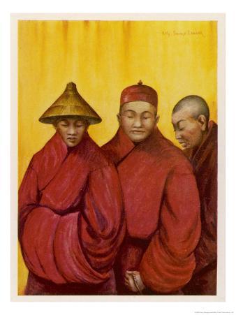 Tibetan Red Lamas