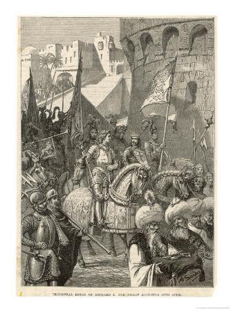 Third Crusade, Richard I Lands at Acre and Takes the City