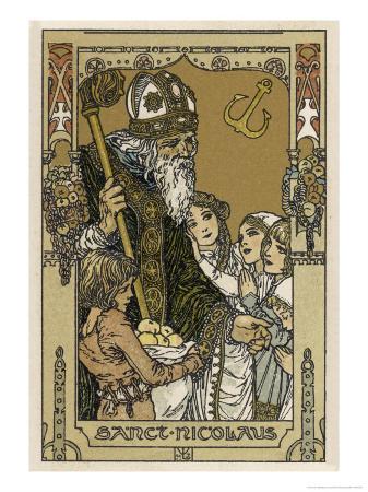 Saint Nicolas with Children, The Original Santa Claus