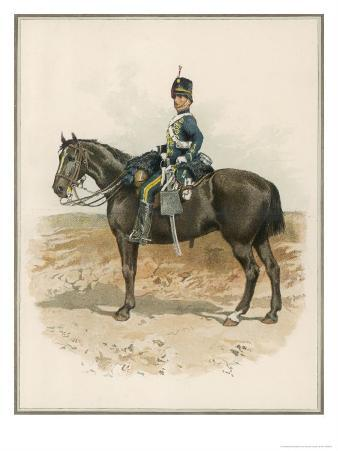 8th (The King's Royal Irish) Hussars a Trooper in Marching Order Mounted on His Horse