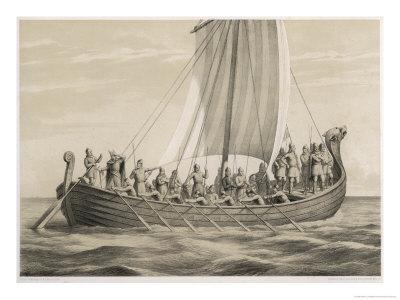 Vikingesnekke, Norwegian Warriors in a Half-Decked Warship