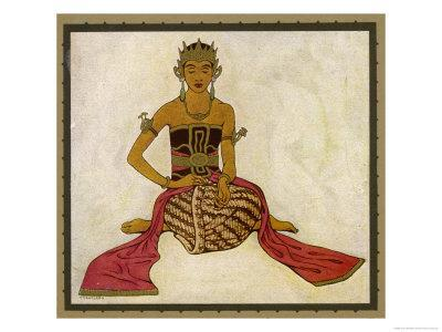 Javanese Dancer in a Seated Pose