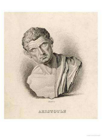 Aristotle Greek Philosopher: a Sculptured Head