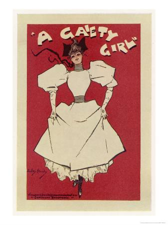 """""""Gaiety Girl"""", The Gaiety Theatre London is Famous for Its Showgirls"""