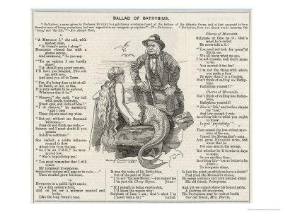 Thomas Henry Huxley, a Satire on the English Scientist's Discovery of a Gelatinous Substance