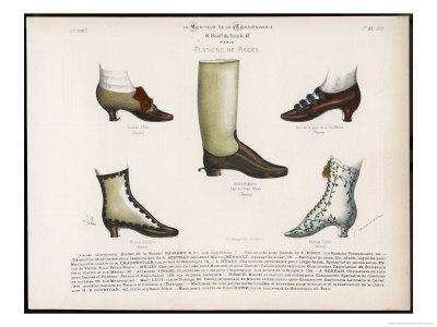 Selection of Victorian Shoes and Boots for Men and Women