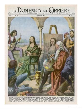 Leonardo Da Vinci Italian Artist Employs a Jester and a Musician to Keep His Model Smiling