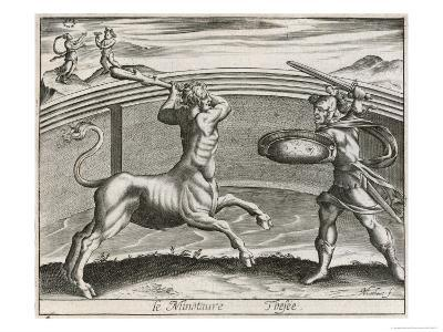 The Minotaur, Half Man Half Bull, is Here Depicted as Bull up to the Waist Man Above the Waist