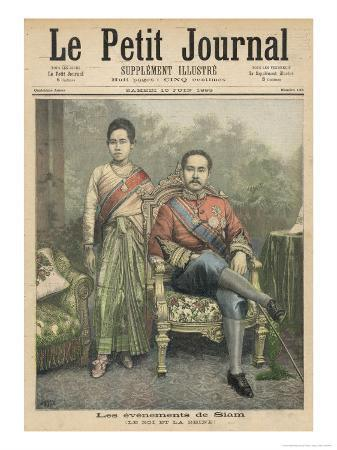 Rama V Known as Chulalongkorn King of Siam and His Wife