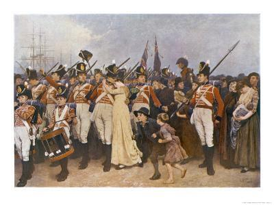 Soldiers Embarking for the Napoleonic Wars: The Girl I Left Behind Me