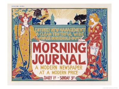 Poster for the Morning Journal New York, a Modern Newspaper at a Modern Price