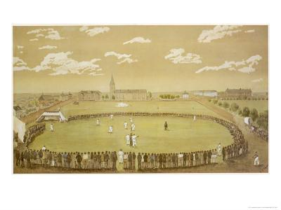 The Old Days of Merry Cricket Club Matches' at the Hyde Park Ground Sydney Australia