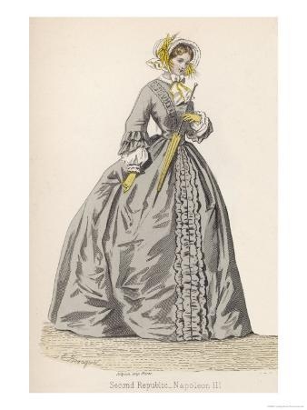 1882 Depiction of 1840s Fashions