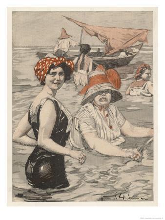 Bathing Lady and Bathing-Woman