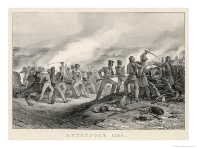 The 59th Foot Regiment Under Attack by Burmese Troops at the Battle of Bhurtpoor