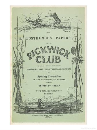 Front Cover of the First Issue of the Pickwick Papers