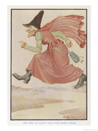 The Witch Goes an Hour's Walk with Every Stride