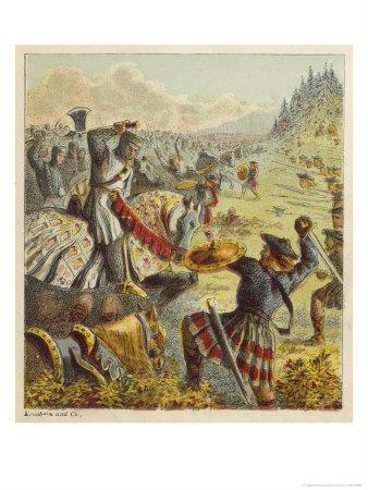 The English Forces of King Edward I Battle Against the Scots Under William Wallace