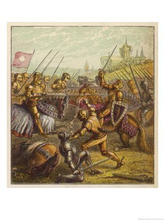 Nobles of the Houses of York and Lancaster Battle at Tewkesbury