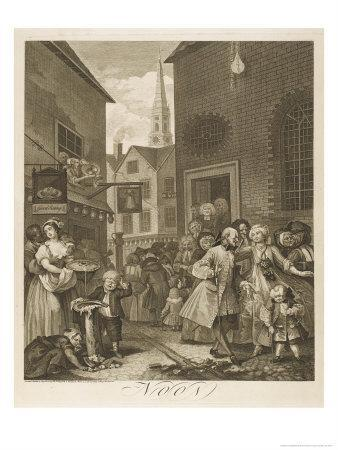 Noon a Group of Huguenots Attend Chapel Opposite an Eating House