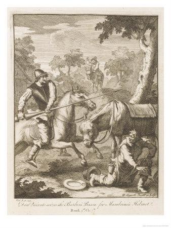Don Quixote Seizes the Barber's Bason for the Mambrino's Helmet