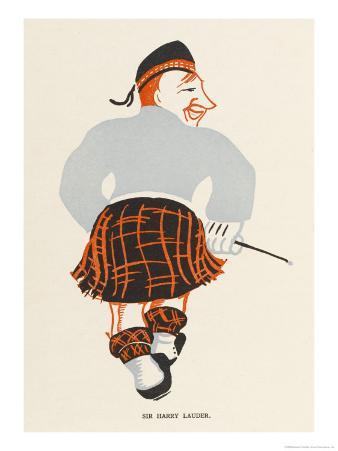 Sir Harry Lauder, Scottish Music-Hall Entertainer