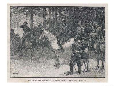 The Meeting of Lee and Grant at Appomattox Court-House Ending the War Between the States