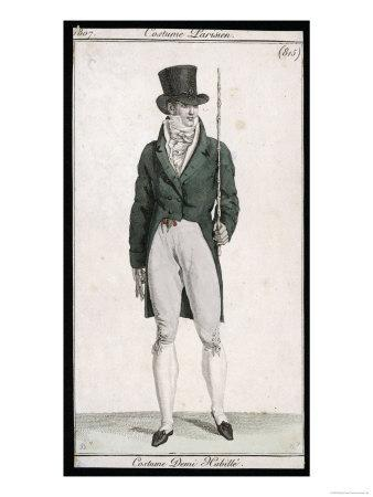 Green Coat and Cane 1807