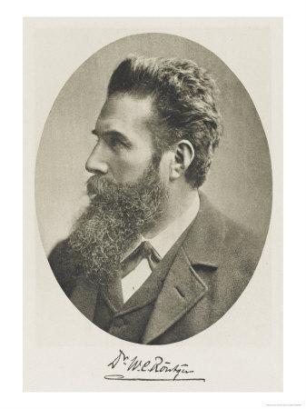 Wilhelm Conrad Rontgen German Physicist Discovered X-Rays 1895 Nobel Prizewinner 1901